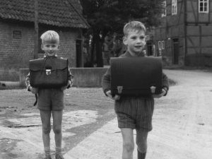 1959: Schulkinder in Holtensen